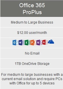 Microsoft Office 365 ProPlus Medium Business Computer Solutions