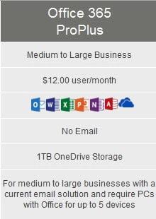 Microsoft Office 365 ProPlus Medium Business Computer Solutions