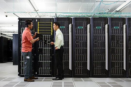 computer solutions server room